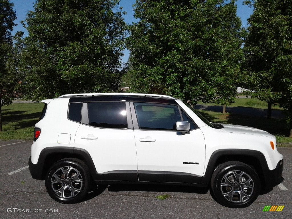 2018 Renegade Limited 4x4 - Alpine White / Black photo #5