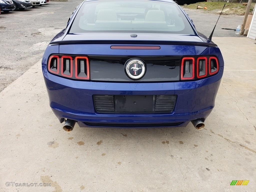 2013 Mustang V6 Premium Coupe - Deep Impact Blue Metallic / Stone photo #4