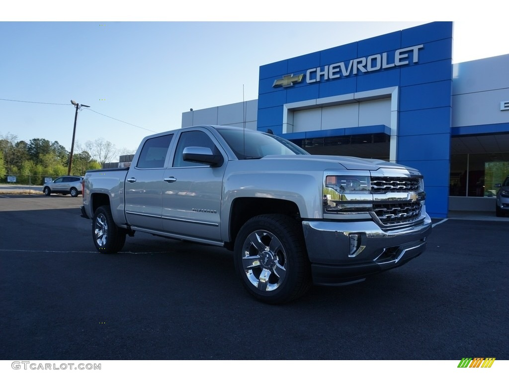2018 Silverado 1500 LTZ Crew Cab 4x4 - Silver Ice Metallic / Jet Black photo #1