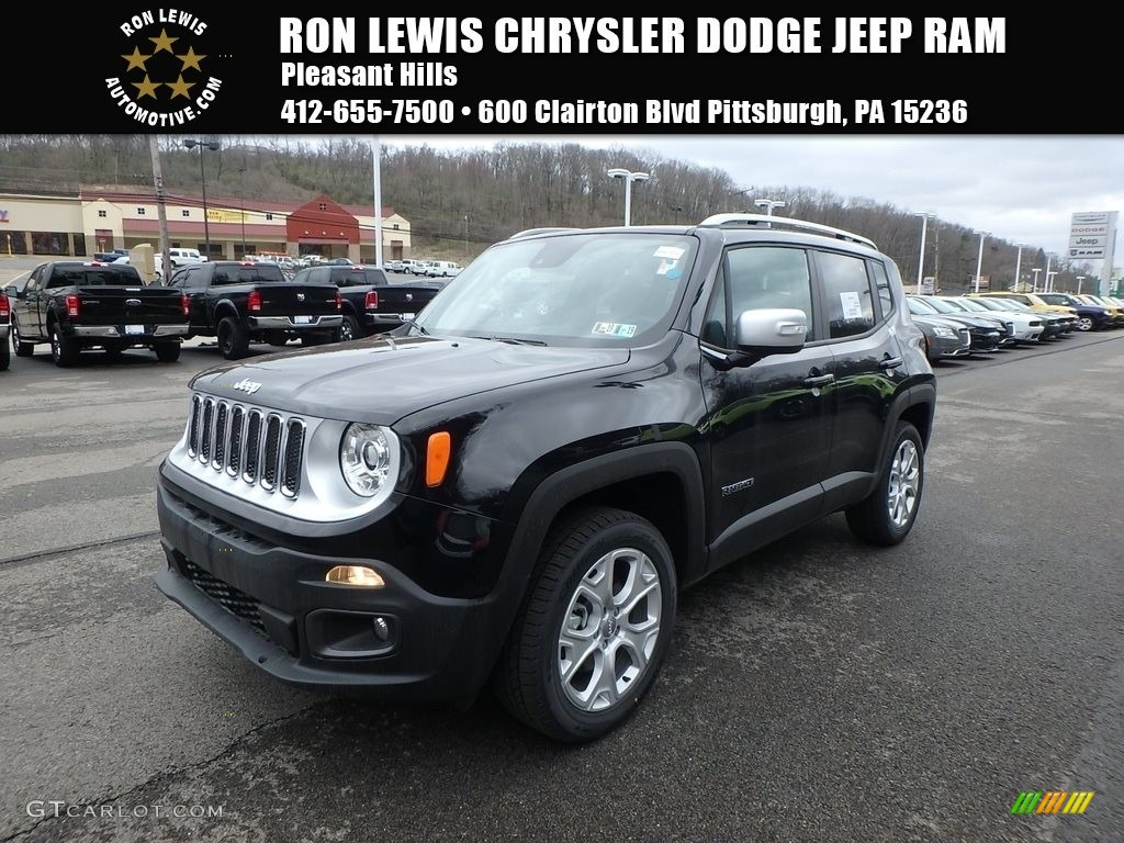 2018 Renegade Limited 4x4 - Black / Black photo #1