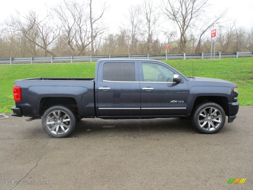 2018 Silverado 1500 LTZ Crew Cab 4x4 - Centennial Blue Metallic / Jet Black photo #2