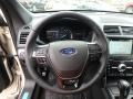 Ebony Black Steering Wheel Photo for 2018 Ford Explorer #126815432