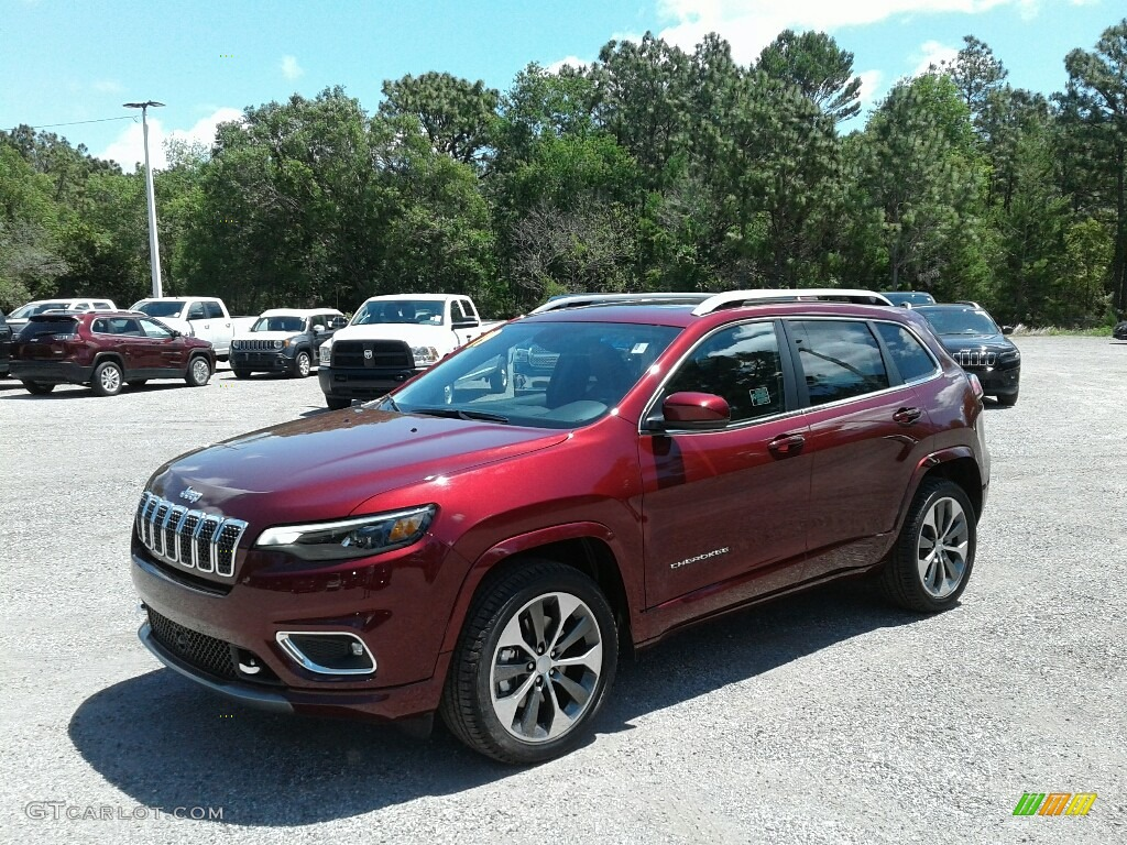 2019 Velvet Red Pearl Jeep Cherokee Overland 126810153 Gtcarlot Com Car Color Galleries