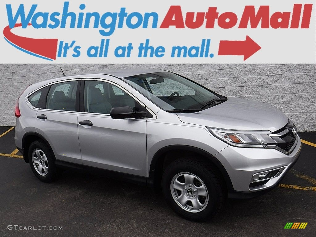 2015 CR-V LX AWD - Alabaster Silver Metallic / Gray photo #1