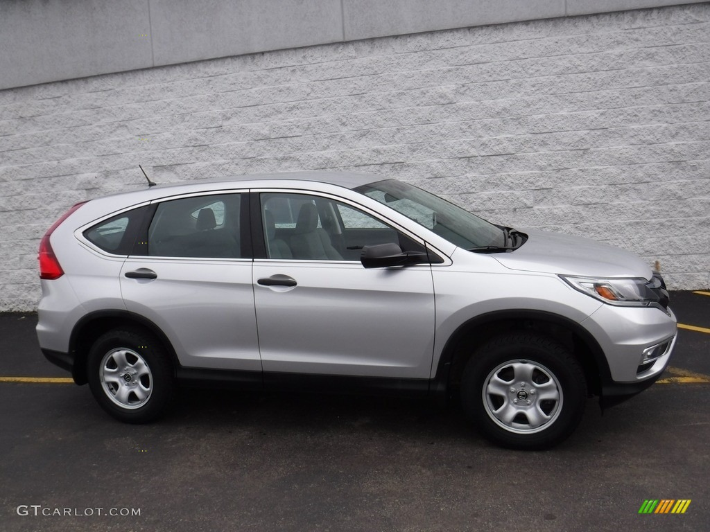 2015 CR-V LX AWD - Alabaster Silver Metallic / Gray photo #2