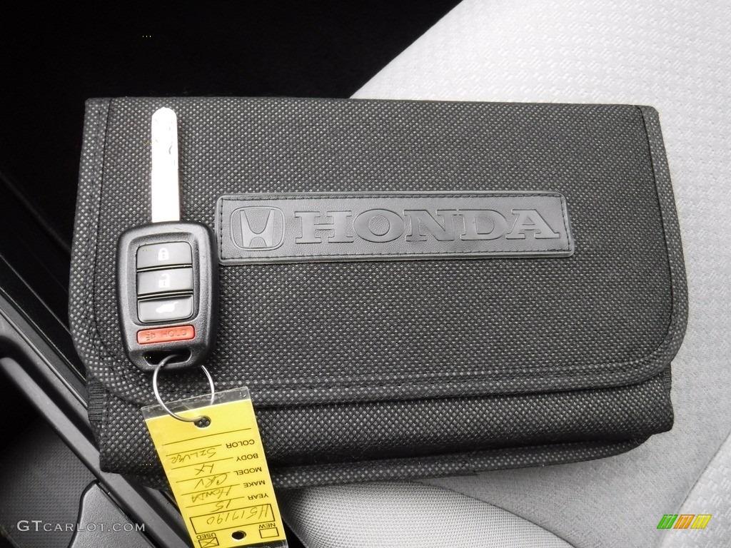 2015 CR-V LX AWD - Alabaster Silver Metallic / Gray photo #23