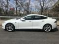 2014 Model S  Pearl White