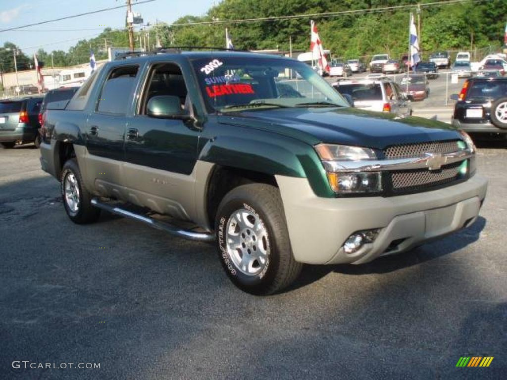 2002 forest green metallic chevrolet avalanche z71 4x4 12683918 car color. Black Bedroom Furniture Sets. Home Design Ideas