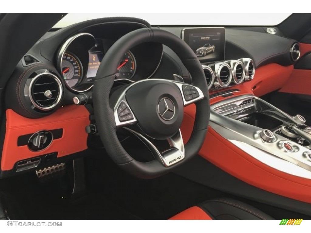 2018 Mercedes Benz Amg Gt C Roadster Red Pepper Black Dashboard Photo 126995561 Gtcarlot Com