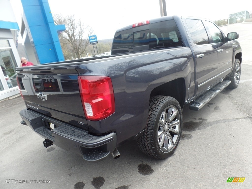 2018 Silverado 1500 LTZ Crew Cab 4x4 - Centennial Blue Metallic / Dark Ash/Jet Black photo #8