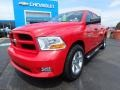 2012 Flame Red Dodge Ram 1500 Express Crew Cab 4x4  photo #2
