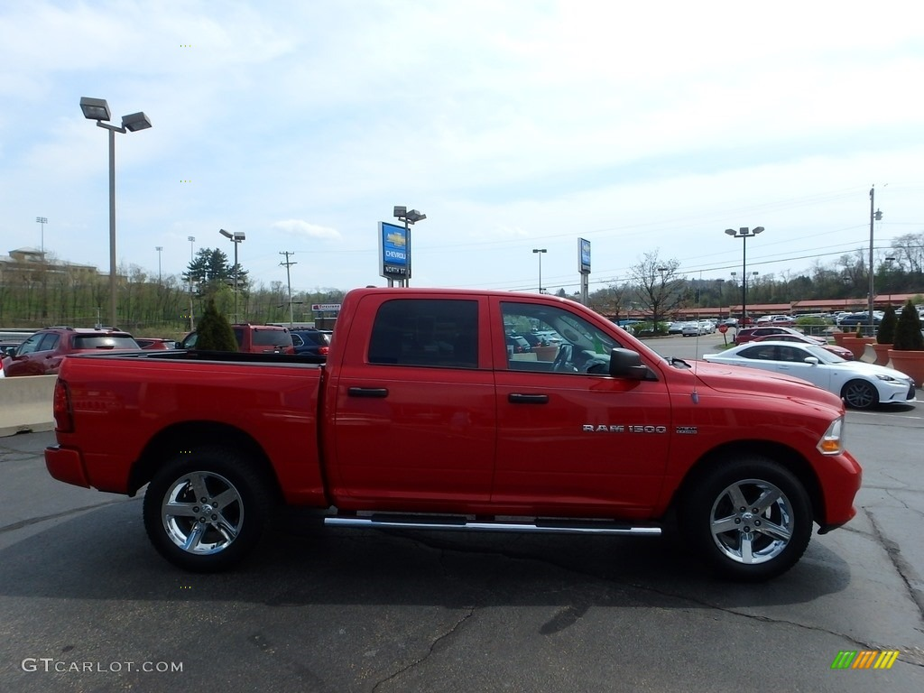 2012 Ram 1500 Express Crew Cab 4x4 - Flame Red / Dark Slate Gray/Medium Graystone photo #9