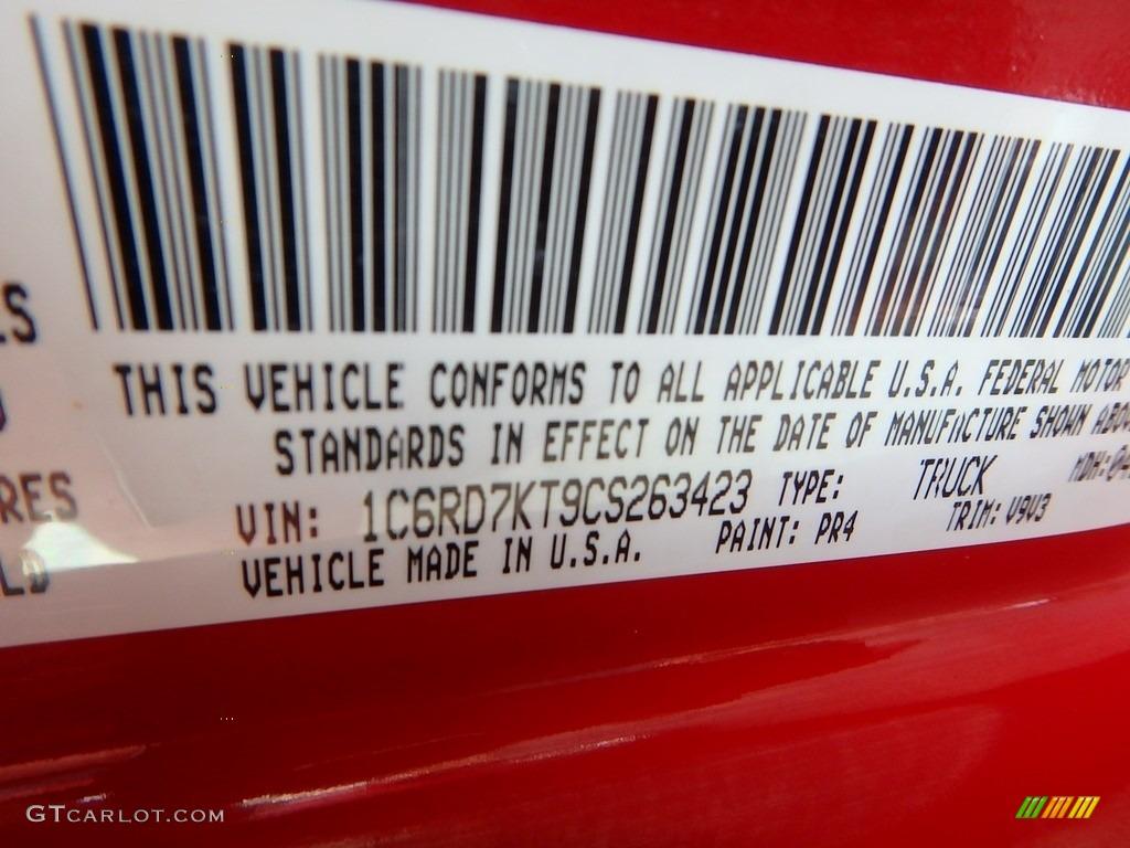 2012 Ram 1500 Express Crew Cab 4x4 - Flame Red / Dark Slate Gray/Medium Graystone photo #29