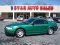 2000 Electric Green Metallic Ford Mustang V6 Coupe  photo #1