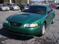 2000 Electric Green Metallic Ford Mustang V6 Coupe  photo #10
