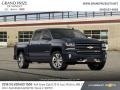 2018 Centennial Blue Metallic Chevrolet Silverado 1500 LTZ Crew Cab 4x4  photo #4