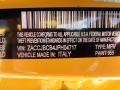 2018 Renegade Trailhawk 4x4 Solar Yellow Color Code 955
