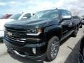 2018 Black Chevrolet Silverado 1500 LTZ Double Cab 4x4  photo #1