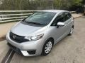 Alabaster Silver Metallic 2015 Honda Fit LX