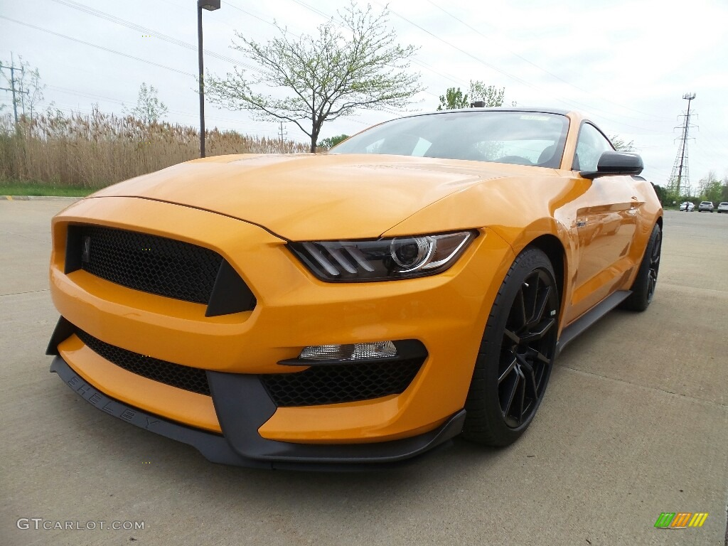 2018 Mustang Shelby GT350 - Orange Fury / GT350 Ebony Leather/Miko Suede photo #1