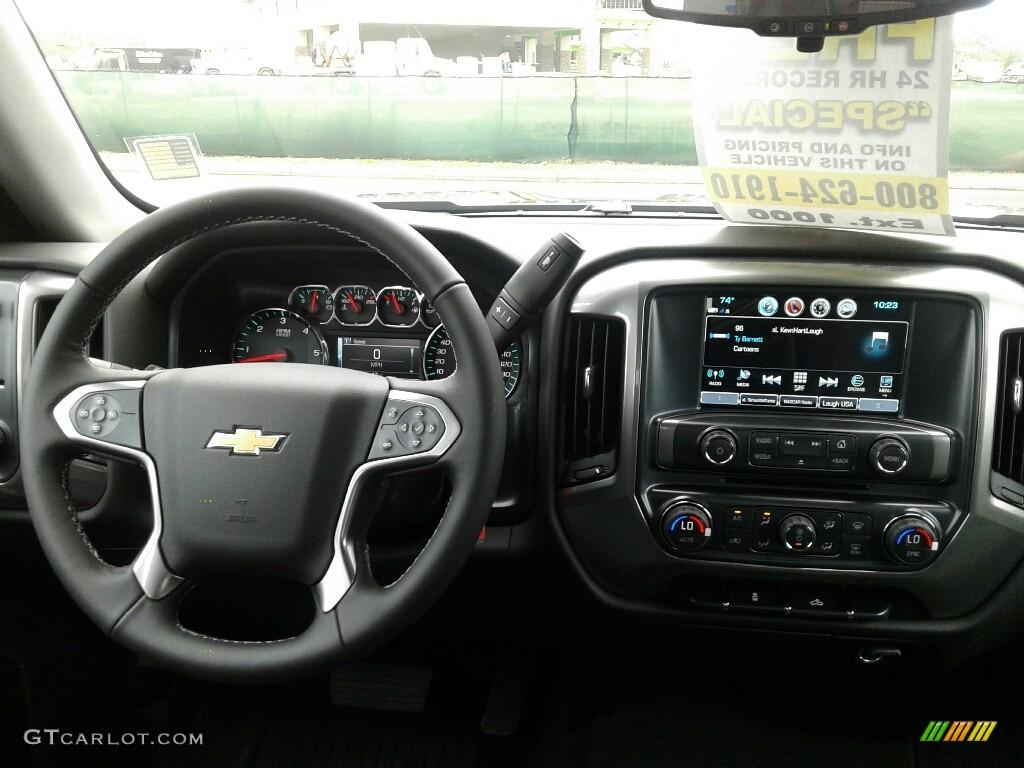 2018 Silverado 1500 LT Double Cab - Black / Dark Ash/Jet Black photo #13