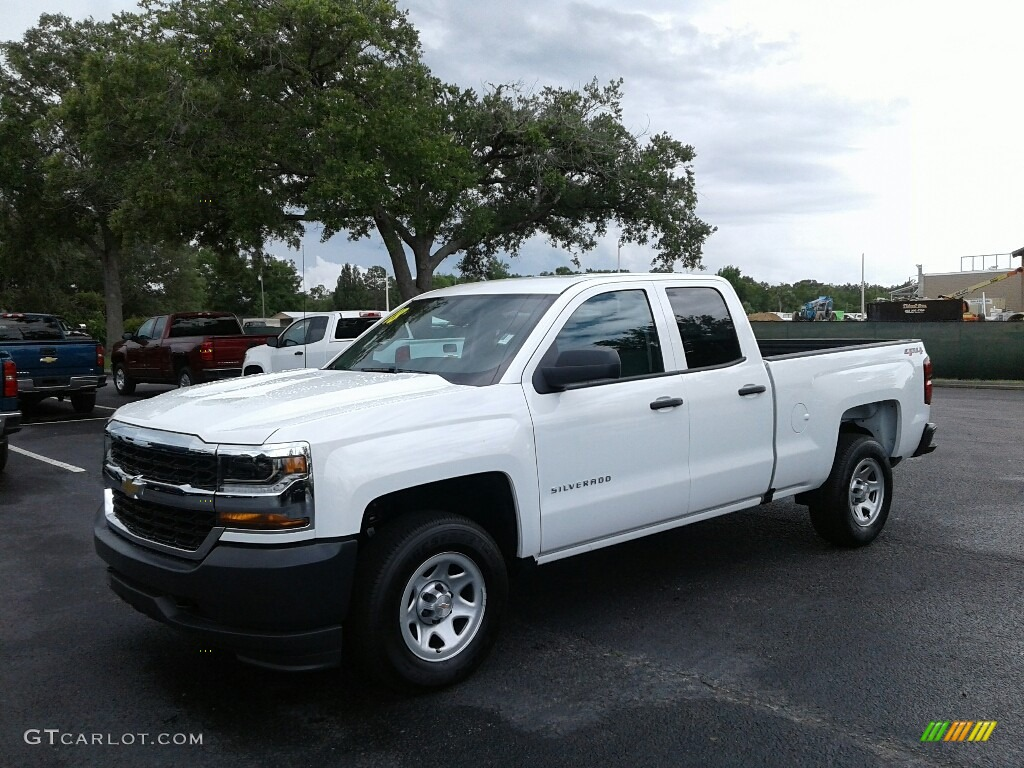 2018 Silverado 1500 WT Double Cab 4x4 - Summit White / Dark Ash/Jet Black photo #1