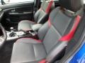 Carbon Black Front Seat Photo for 2016 Subaru WRX #127233913