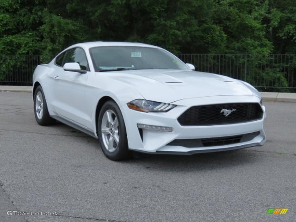 2018 Mustang EcoBoost Fastback - Oxford White / Ebony photo #1