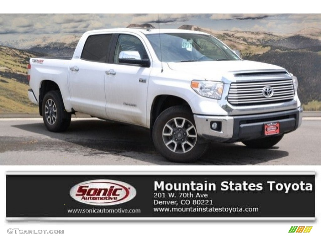 2016 Tundra Limited CrewMax 4x4 - Super White / Black photo #1