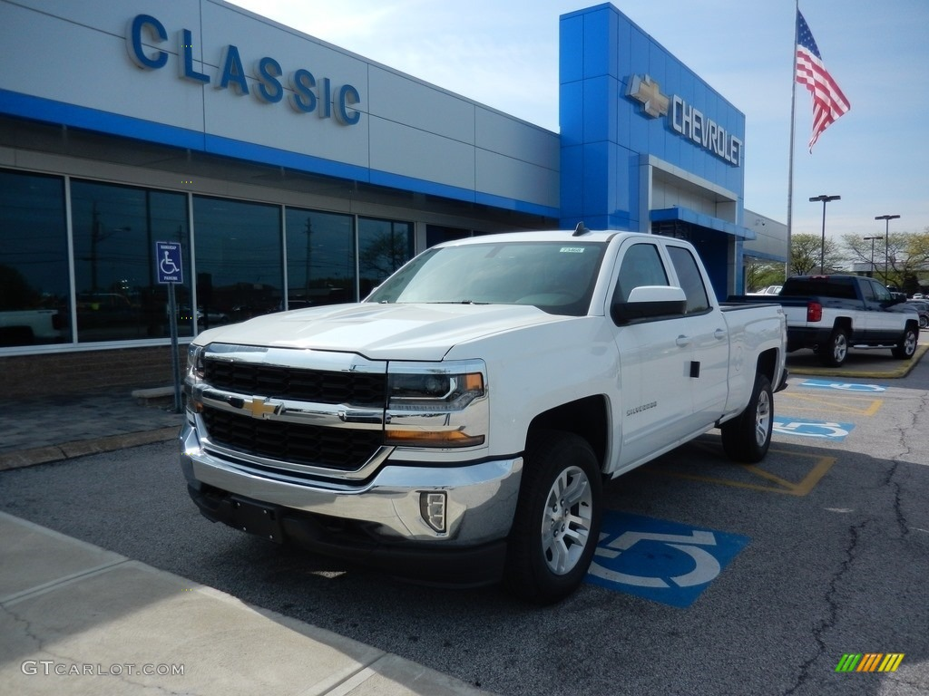 2018 Silverado 1500 LT Double Cab 4x4 - Summit White / Dark Ash/Jet Black photo #1