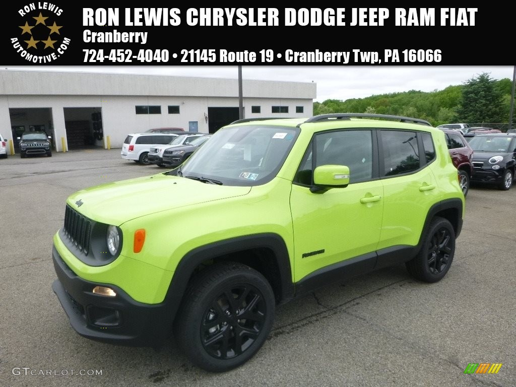 2018 Renegade Latitude 4x4 - Hypergreen / Black photo #1