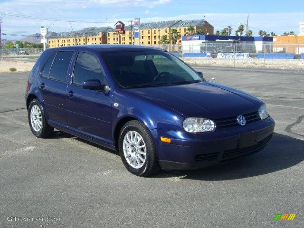 2004 indigo blue metallic volkswagen golf gls tdi 4 door. Black Bedroom Furniture Sets. Home Design Ideas