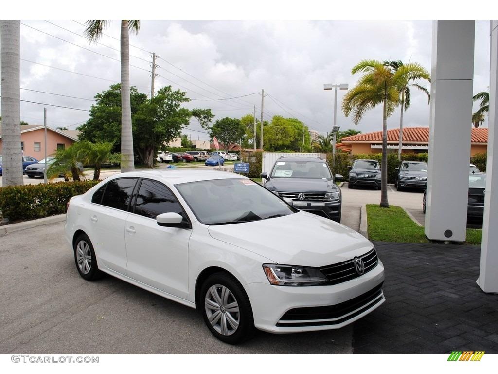 2017 Pure White Volkswagen Jetta S 127378083 Gtcarlot Com Car Color Galleries