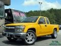 Yellow 2005 Chevrolet Colorado Extended Cab
