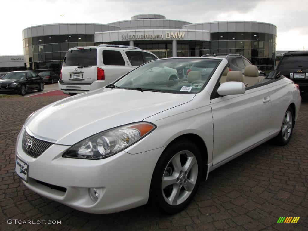 Nice 2005 Solara SLE V6 Convertible   Arctic Frost Pearl White / Ivory Photo #1