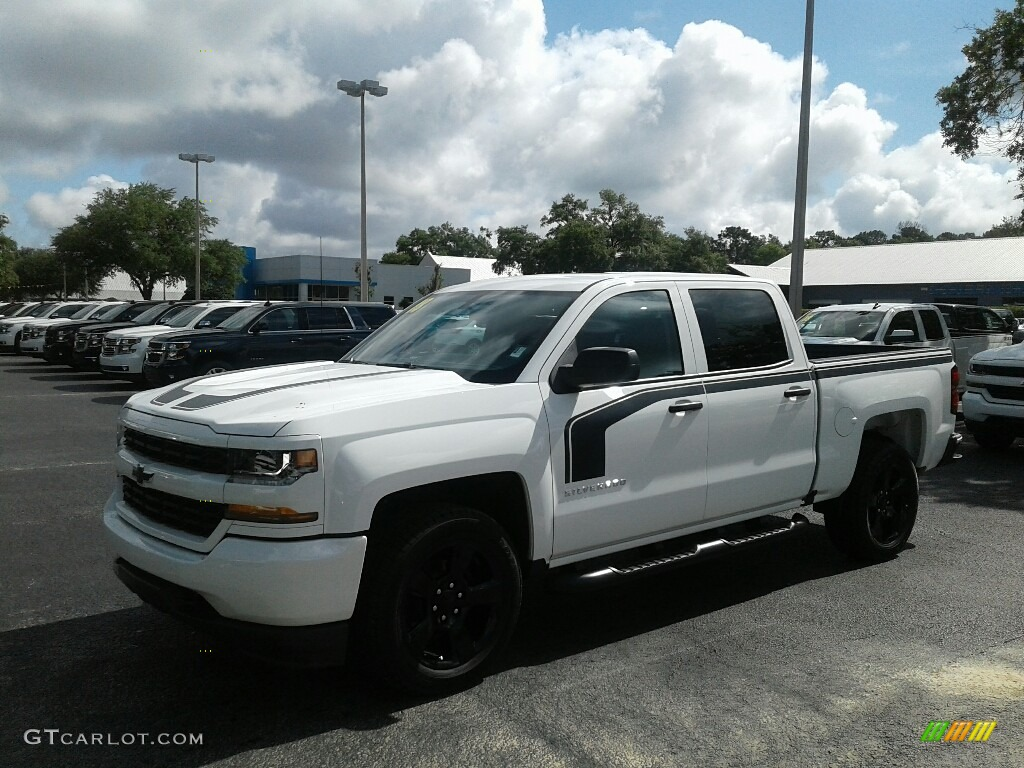 2018 Silverado 1500 Custom Crew Cab - Summit White / Dark Ash/Jet Black photo #1