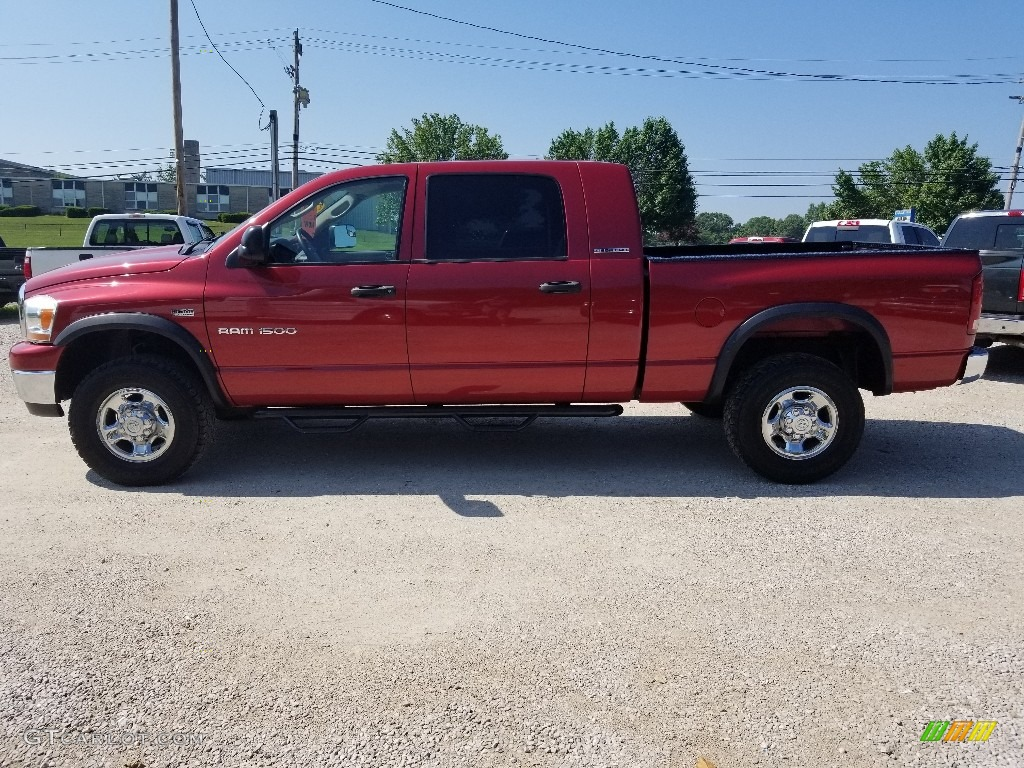 2006 Ram 1500 SLT Mega Cab 4x4 - Flame Red / Medium Slate Gray photo #1