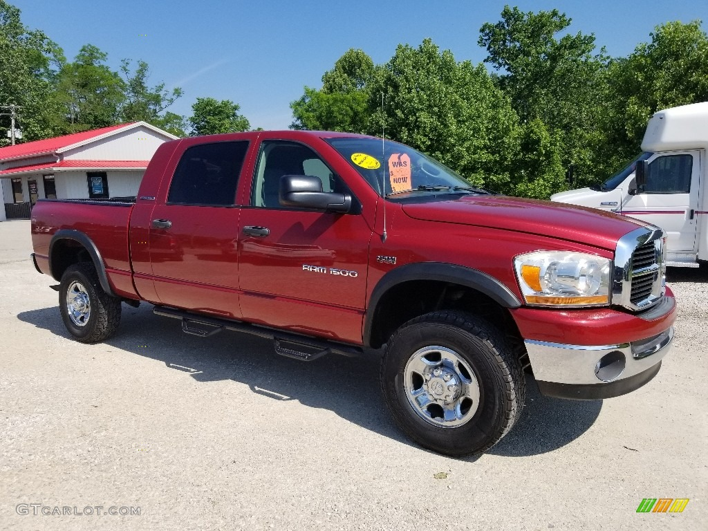 2006 Ram 1500 SLT Mega Cab 4x4 - Flame Red / Medium Slate Gray photo #7