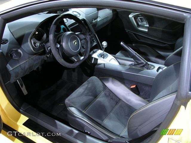 2006 Lamborghini Gallardo Coupe Black Leather Alcantara Interior