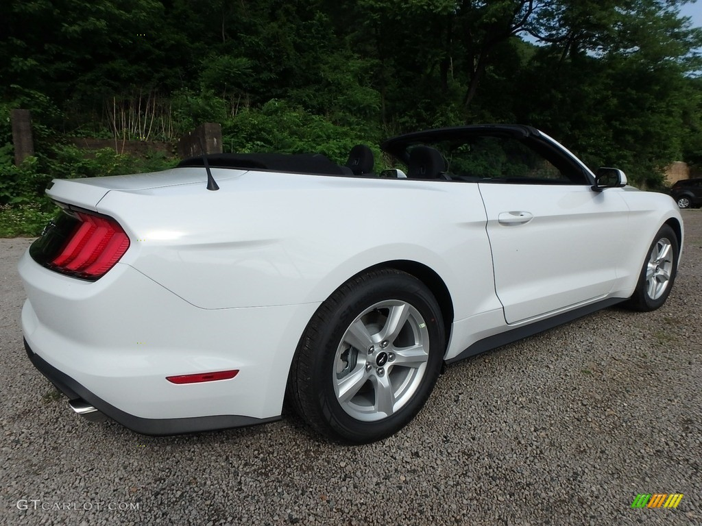 2018 Mustang EcoBoost Convertible - Oxford White / Ebony photo #2