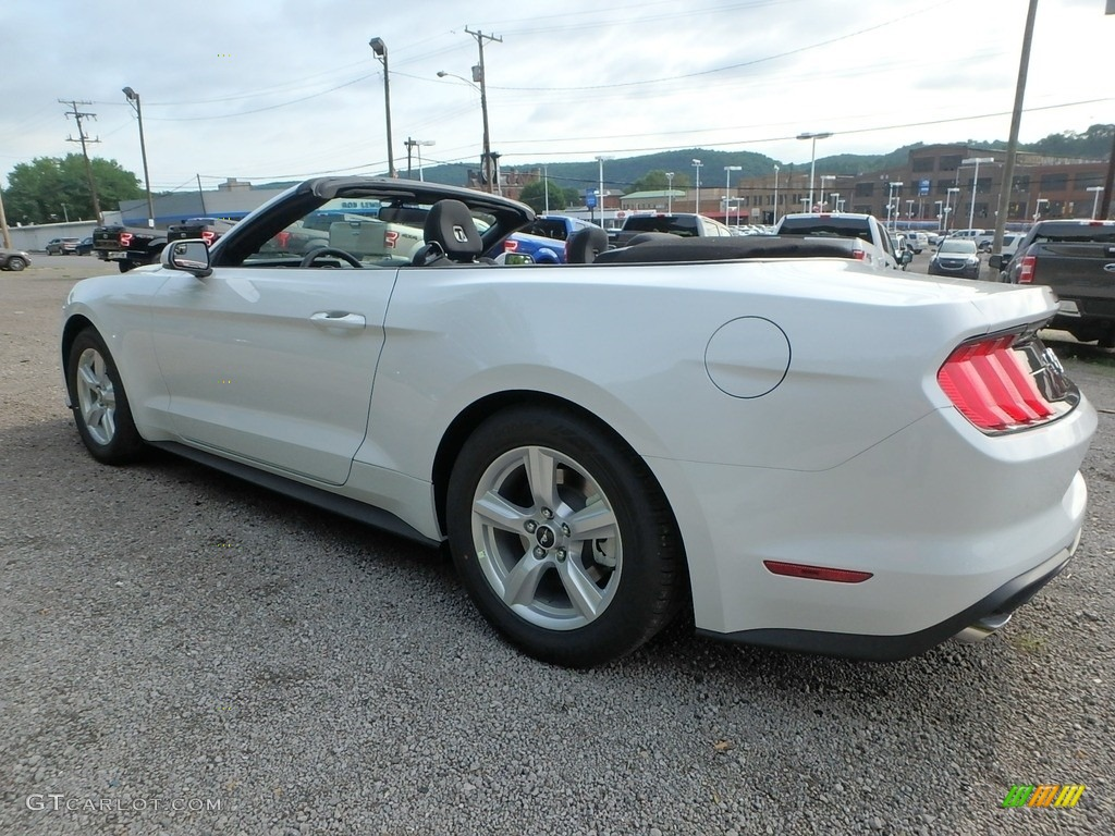 2018 Mustang EcoBoost Convertible - Oxford White / Ebony photo #4