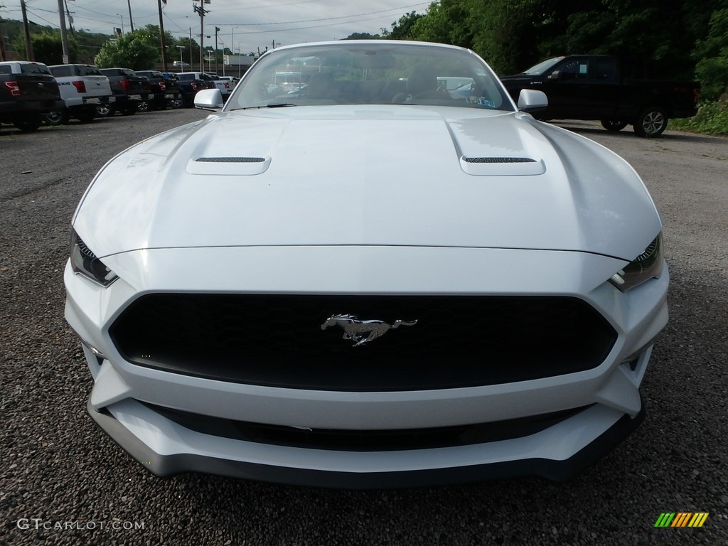 2018 Mustang EcoBoost Convertible - Oxford White / Ebony photo #7