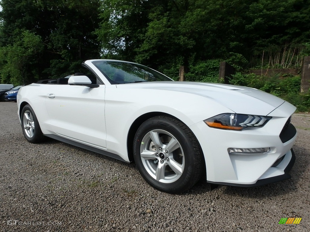 2018 Mustang EcoBoost Convertible - Oxford White / Ebony photo #8