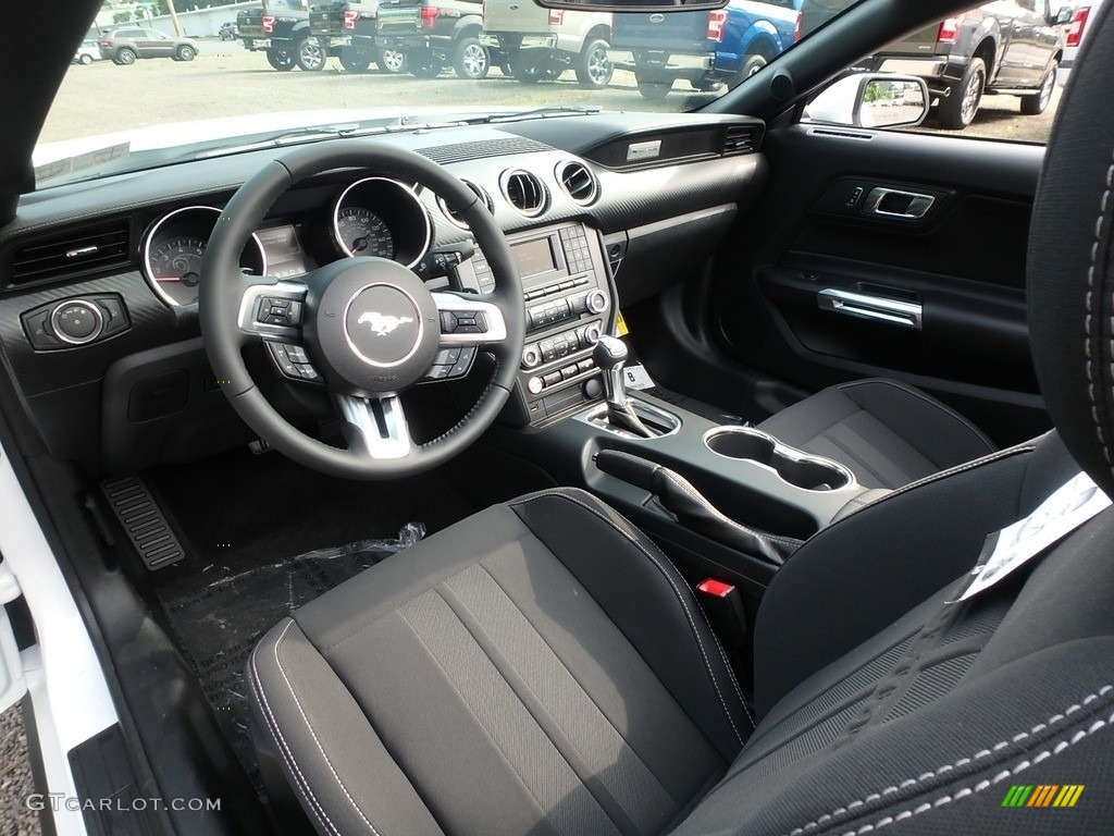 2018 Mustang EcoBoost Convertible - Oxford White / Ebony photo #13