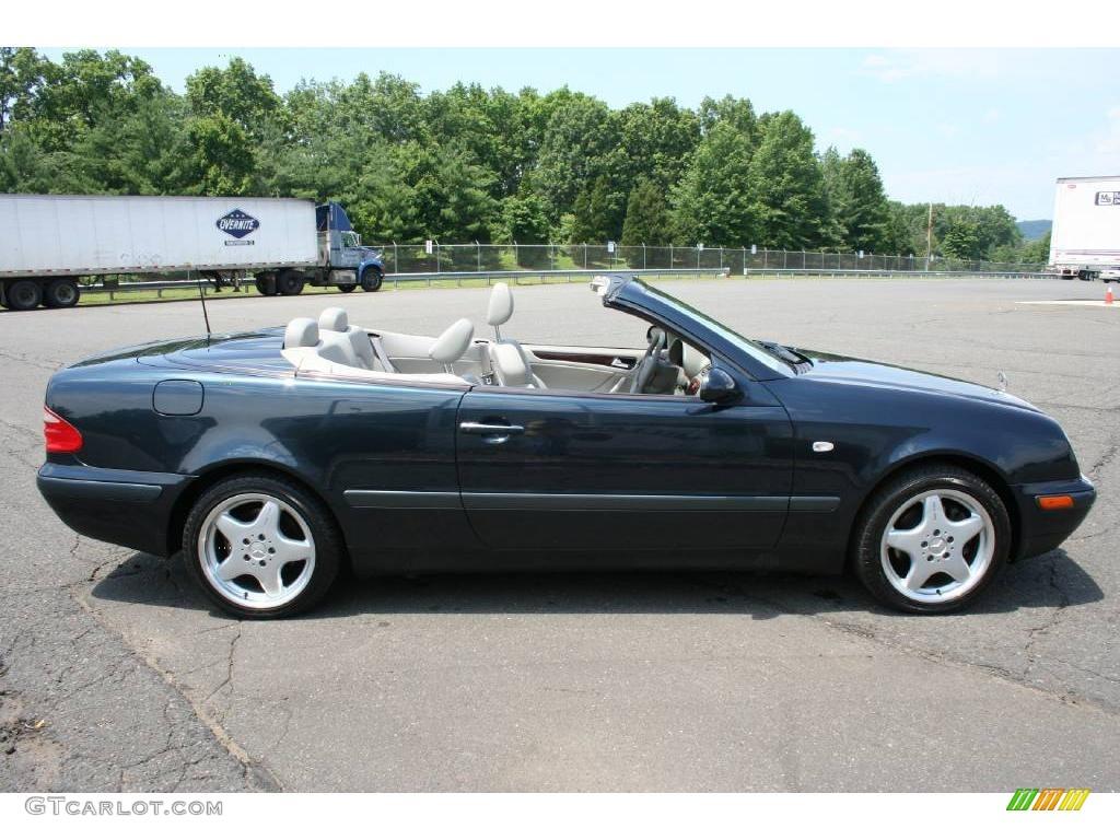 1999 black opal metallic mercedes benz clk 320 convertible for Black convertible mercedes benz
