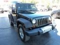 2011 Natural Green Pearl Jeep Wrangler Sahara 4x4  photo #5