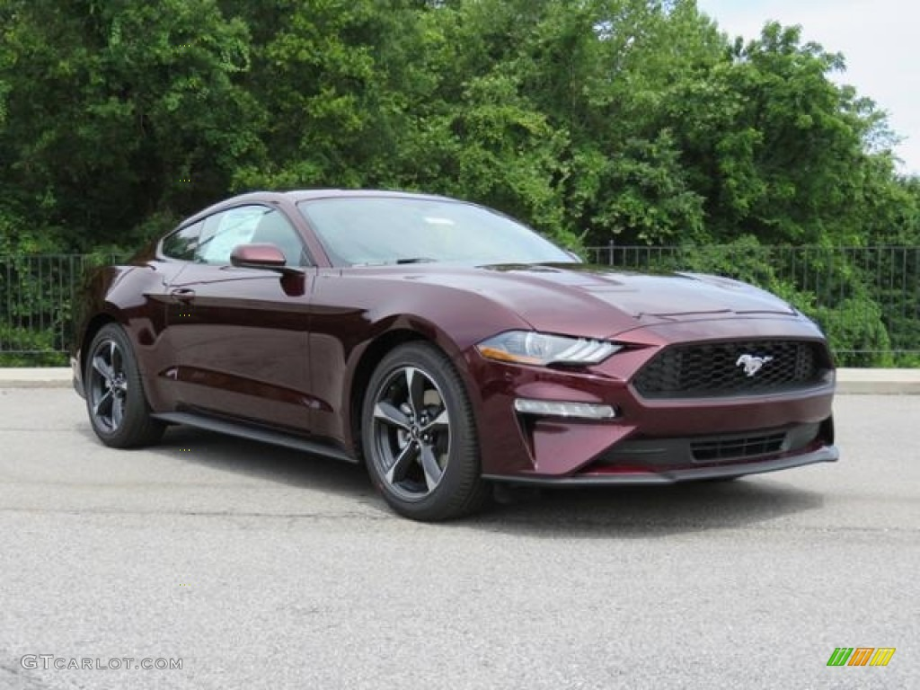 Royal crimson ford mustang