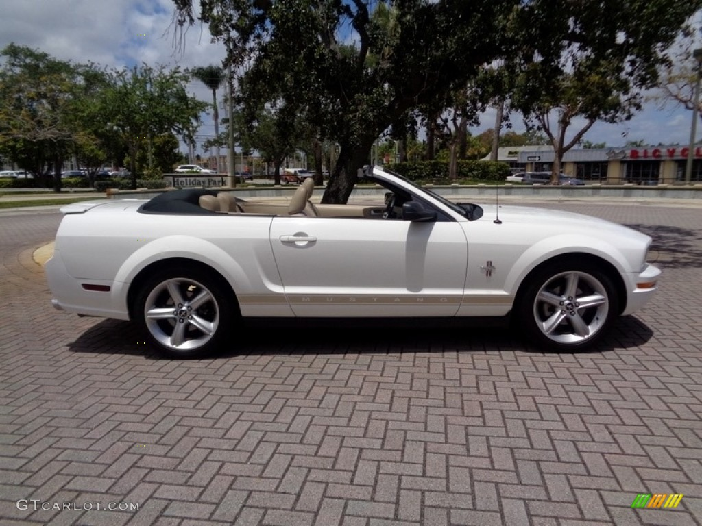 2007 Mustang V6 Premium Convertible - Performance White / Medium Parchment photo #11