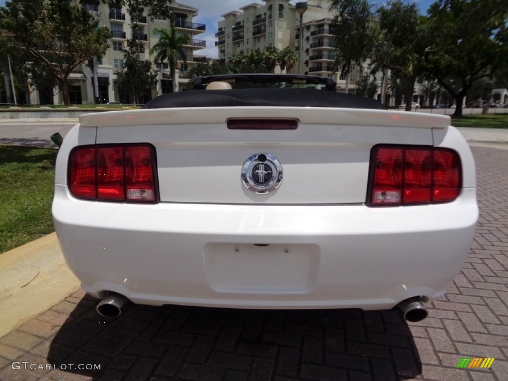 2007 Mustang V6 Premium Convertible - Performance White / Medium Parchment photo #15