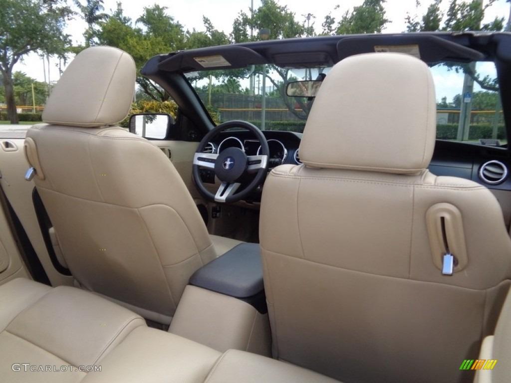 2007 Mustang V6 Premium Convertible - Performance White / Medium Parchment photo #16